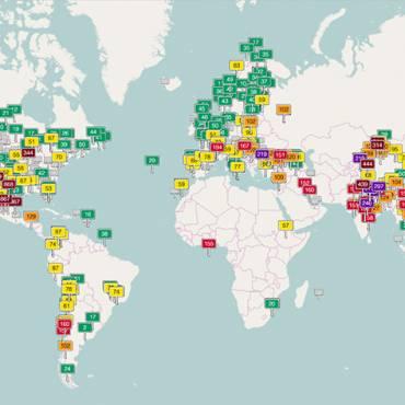 Contaminación del aire de mundo
