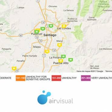 Conoce la calidad del aire en Santiago